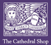 Design of business cards for the Cathedral Shop.