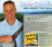 Website design for Dave Crawford, banjo player and teacher