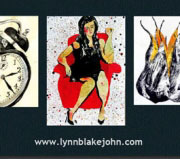 Business card design for Lynn Blake John.