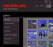 Website, logo, and blog design for Lynn Blake John, artist and illustrator