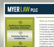 Website and blog design for Myer Law.