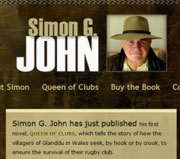 Website and logo design for novelist Simon G. John
