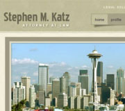 Website and blog design for Steve Katz Law Office.