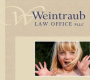 Logo and website redesign for Weintraub Law Office.